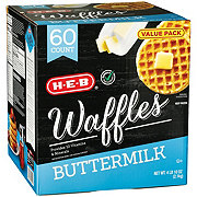 H-E-B Classic Selections Buttermilk Waffles Value Pack