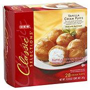 H-E-B Classic Selections Vanilla Cream Puffs
