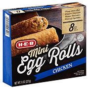 H-E-B Classic Selections White Meat Chicken & Vegetable Mini Egg Rolls