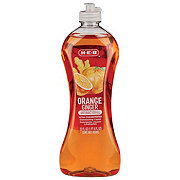H-E-B Cleaning Ultra Concentrated Antibacterial Orange Ginger Hand Dishwashing Liquid Soap