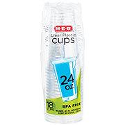 H-E-B Clear 24 oz Plastic Cups