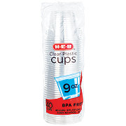 H-E-B Clear 9 oz Plastic Cups