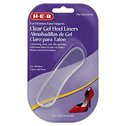 H-E-B Clear Gel Heel Liners For Women