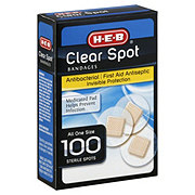 H-E-B Clear Spot All One Size Bandages