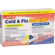 H-E-B Cold Multi-symptom Daytime/Non-Drowsy And Nighttime Cool Taste Caplets