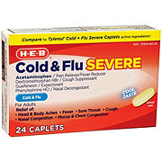 H-E-B Cold Multi-symptom Severe Daytime Non-Drowsy Cool Taste Caplets