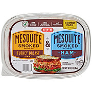 H-E-B Combo Pack Mesquite Smoked Turkey & Ham