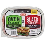 H-E-B Combo Pack Oven Roasted Turkey & Black Forest Ham