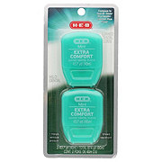 H-E-B Comfort Glide Mint Waxed Dental Floss