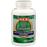 H-E-B Complete Senior Advanced Formula Tablets