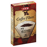 H-E-B Cone Coffee Filters, No. 2, Natural Color