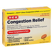H-E-B Congestion Relief Tablets