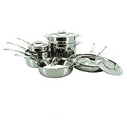 H-E-B Connect Stainless Steel Tri Ply Cookware Set