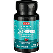 H-E-B Cranberry 4200 mg Plus Vitamin C Premium Strength Rapid Release Softgels