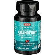 H-E-B Cranberry 4200 mg Plus Vitamin C Premium Strength Rapid Release Softgels