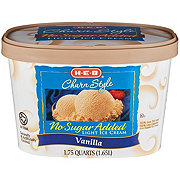 H-E-B Creamy Creations Churn Style No Sugar Added Light Vanilla Ice Cream