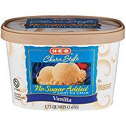 H-E-B Creamy Creations Churn Style No Sugar Added Light Vanilla Ice Cream