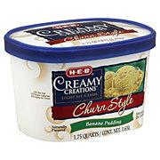 H-E-B Creamy Creations Light Churn Style Banana Pudding Ice Cream