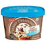H-E-B Creamy Creations Light Churn Style Cookies and Cream Ice Cream