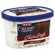 H-E-B Creamy Creations Light Churn Style Milk Chocolate Ice Cream