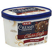 H-E-B Creamy Creations Light Churn Style Rocky Road Ice Cream