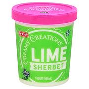H-E-B Creamy Creations Lime Sherbet