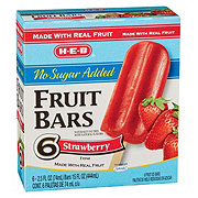 H-E-B Creamy Creations No Sugar Added Strawberry Fruit Bars