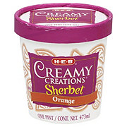 H-E-B Creamy Creations Orange Sherbet