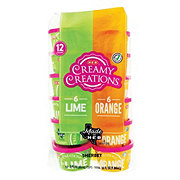 H-E-B Creamy Creations Sherbet Assorted Flavors 3 oz Cups
