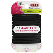 H-E-B Damage Free Satin Black Hair Elastics