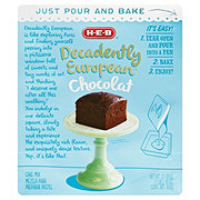 H-E-B Decadently European Chocolate Cake Mix