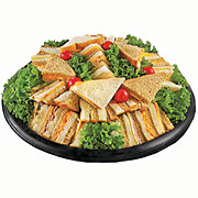 H-E-B Deli Deluxe Finger Sandwich Medium Party Tray