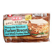 H-E-B Deli Shaved Mesquite Smoked Turkey Breast