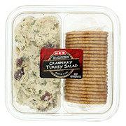 H-E-B Delicatessen Cranberry Turkey Salad with Whole Wheat Crackers