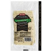 H-E-B Delicatessen Foods Jalapeno Monterey Jack Cheese Pre-Sliced