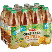H-E-B Diet Citrus Green Tea 16.9 oz Bottles