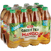 H-E-B Diet Mango Green Tea 16.9 oz Bottles