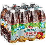 H-E-B Diet Peach Iced Tea 16.9 oz Bottles