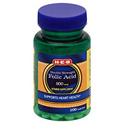 H-E-B Double Strength Folic Acid 800 mcg Tablets