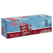 H-E-B Dr. B 20 Calorie Pure Cane Sugar Soda 12 oz Cans