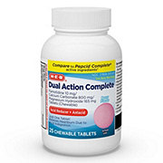 H-E-B Dual Action Complete Acid Reducer Plus Antacid Berry Flavor Chewable Tablets