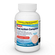 H-E-B Dual Action Complete Acid Reducer Plus Antacid Cool Mint Flavor Chewable Tablets