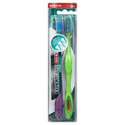H-E-B Expert Care Vortex Medium Toothbrush Twin Pack