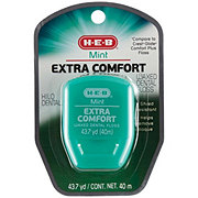 H-E-B Extra Comfort Mint Waxed Dental Floss 43.7 yard