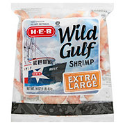H-E-B Extra Large Raw Wild Gulf Shrimp, 26/30 ct