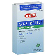 H-E-B Extra Strength Gas Relief 125 mg Softgels