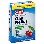 H-E-B Extra Strength Gas Relief Cherry Creme Flavor 125 mg Chewable Tablets