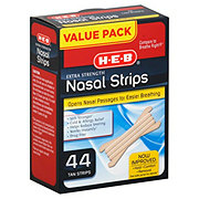 H-E-B Extra Strength Nasal Strips Value Pack Tan