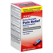 H-E-B Extra Strength Pain Relief Acetaminophen 500 mg Gelcaps