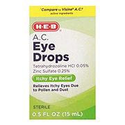 H-E-B Eye Drops A.C.